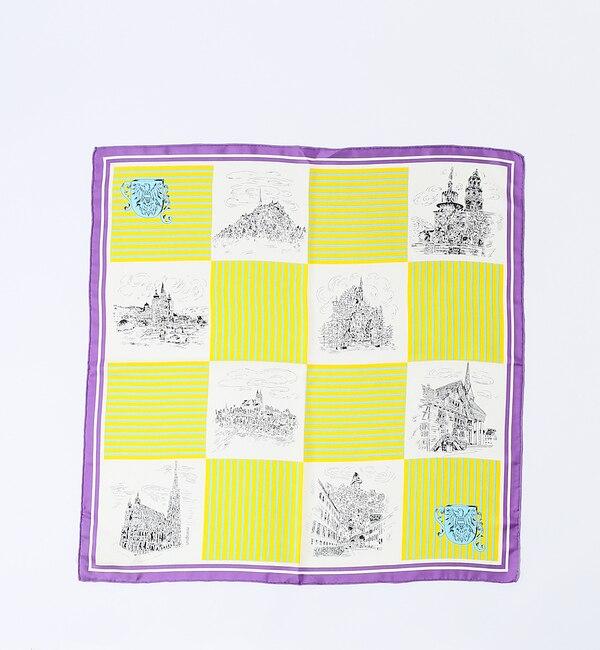 【ルージュ・ヴィフ ラクレ/Rouge vif la cle】 manipuri CASTELシルクスカーフ