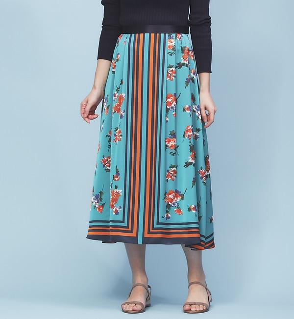 【ルージュ・ヴィフ ラクレ/Rouge vif la cle】 スカーフプリントスカート