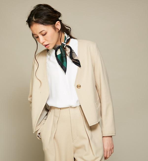【カリテ/qualite】 Vネックショートジャケット