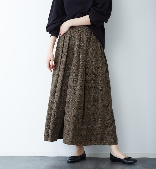 【カリテ/qualite】 anana ドットパターンマキシスカーチョ
