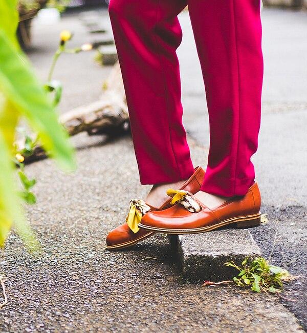 thyme/スカーフシューズ【オゥ バニスター/Au BANNISTER レディス ビジネス・ドレスシューズ ブラウン ルミネ LUMINE】