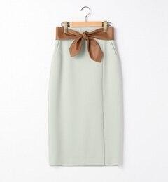 【ティアラ/Tiara】 フェイクレザーベルテッドタイトスカート [送料無料]