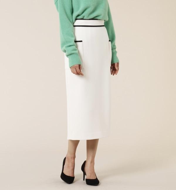 【ティアラ/TIARA】 バイカラーサイドポケットタイトスカート