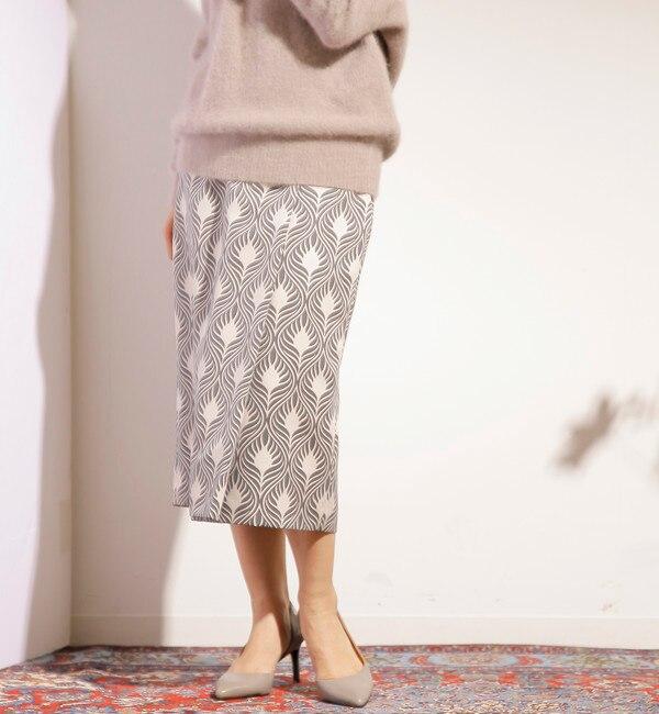 【ティアラ/TIARA】 グログランウォールプリントラップタイトスカート