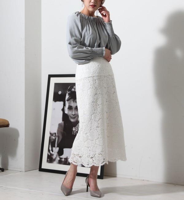 【ティアラ/TIARA】 Aラインレーススカート