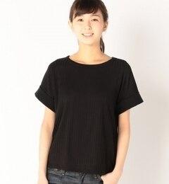 【アルカリ/alcali】 ワイドリブ幅広袖Tシャツ [送料無料]