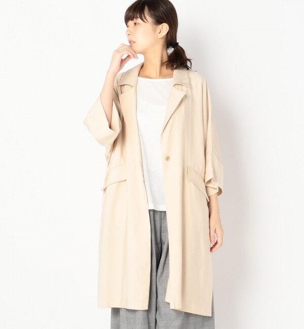 【アルカリ/alcali】 alcali/7分袖ビッグスリーブライトコート