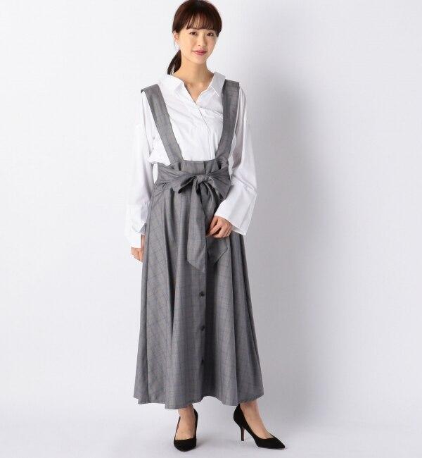【アルカリ/alcali】 alcali/サス付きフレアスカート