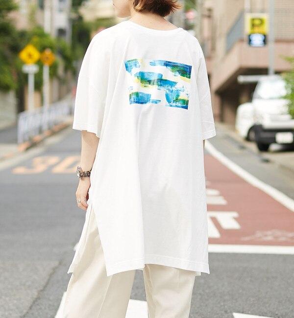 【アルカリ/alcali】 【WEB限定】もやもやプリントオーバーサイズTシャツチュニック