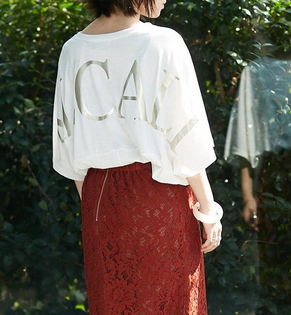 【アルカリ/alcali】 【WEB限定】alcali/バックプリントビッグロゴTシャツ