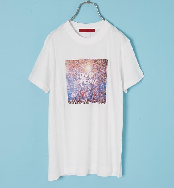 【アルカリ/alcali】 nota della mano sinistra/カラープリントTシャツ