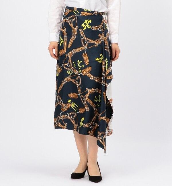 【リエス/Liesse】 TIBI/スカーフプリントスカート