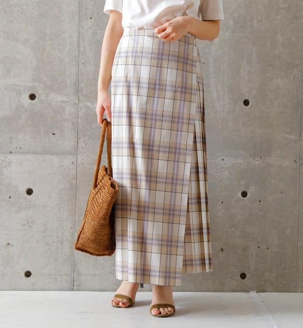 【リエス/Liesse】 チェックプリーツスカート
