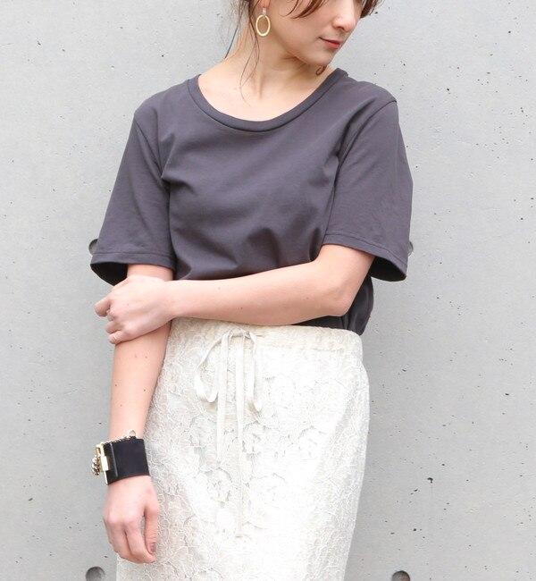 【リエス/Liesse】 ラスティック天竺クルーネックTシャツ