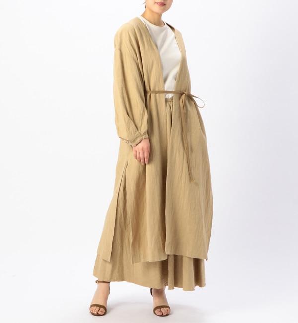 【リエス/Liesse】 ノーカラー羽織りコート