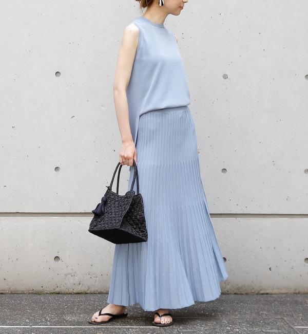 【リエス/Liesse】 ニットプリーツスカート