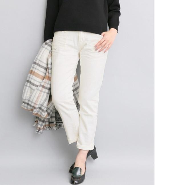 【アーバンリサーチ/URBAN RESEARCH】 ROSSO Munich white denim slouch pants [送料無料]