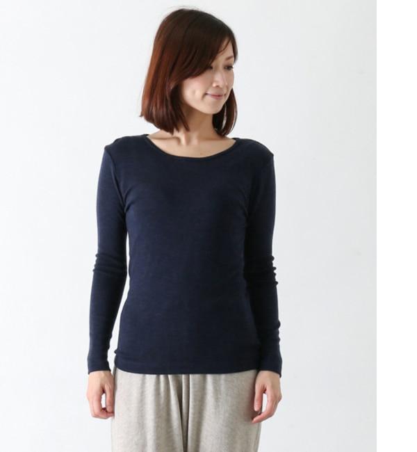 【アーバンリサーチ/URBAN RESEARCH】 かぐれ ウォッシャブルウールの長袖Tシャツ [送料無料]