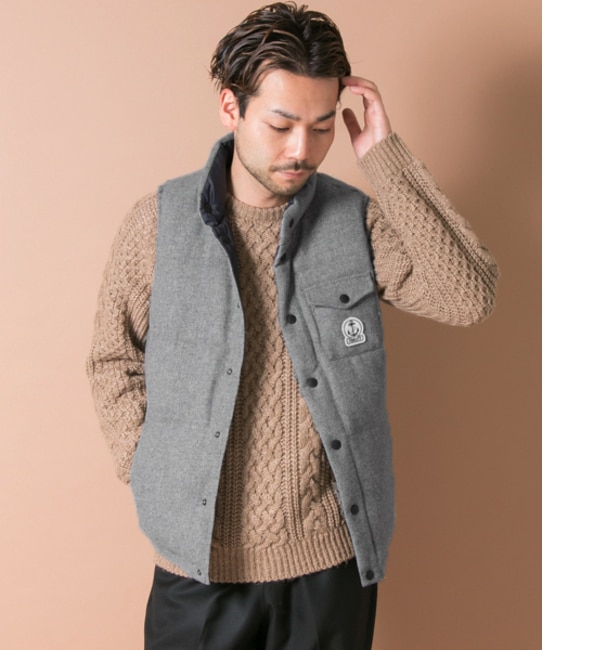 【アーバンリサーチ/URBAN RESEARCH】 UR FIDELITY×URBAN RESEARCH WOOL SOLID DOWN VEST [送料無料]