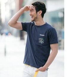 【アーバンリサーチ/URBANRESEARCH】SonnyLabelMAGICNUMBERCAポケットプリントTシャツ[送料無料]