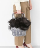 UR caricature FUR BASKET BAG
