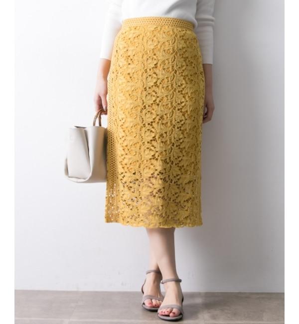 【アーバンリサーチ/URBAN RESEARCH】 UR カラーレースロングタイトスカート's image
