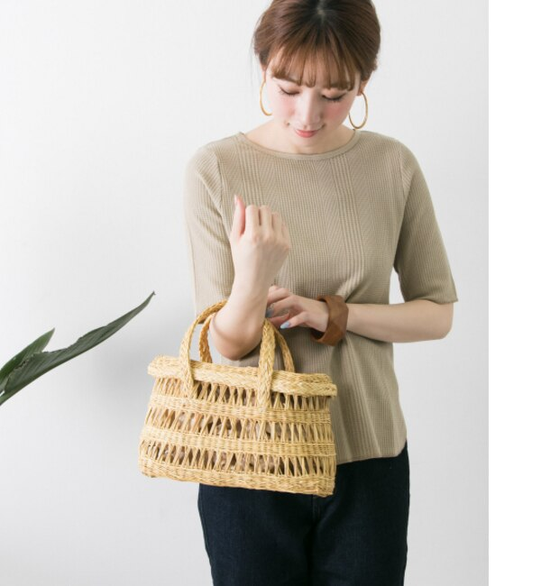 UR MARIA LA ROSA straw busket L【アーバンリサーチ/URBAN RESEARCH レディス ハンドバッグ natural ルミネ LUMINE】