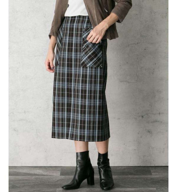【アーバンリサーチ/URBAN RESEARCH】 ROSSO 【雑誌Oggi 12月号掲載】チェックタイトスカート's image