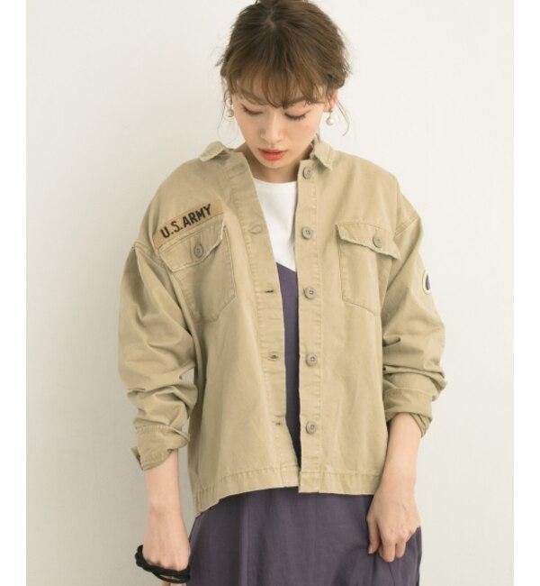 【アーバンリサーチ/URBAN RESEARCH】 Sonny Label ピーチツイルミリタリーシャツジャケット