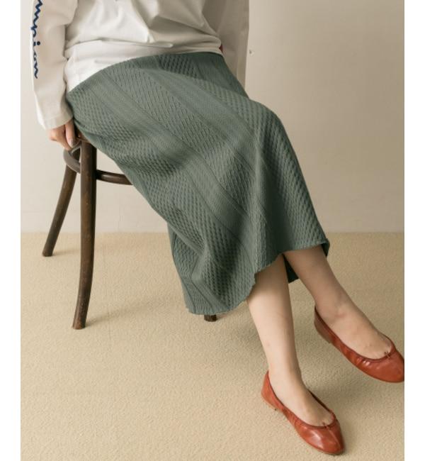 【アーバンリサーチ/URBAN RESEARCH】 UR ケーブルJQカットスカート