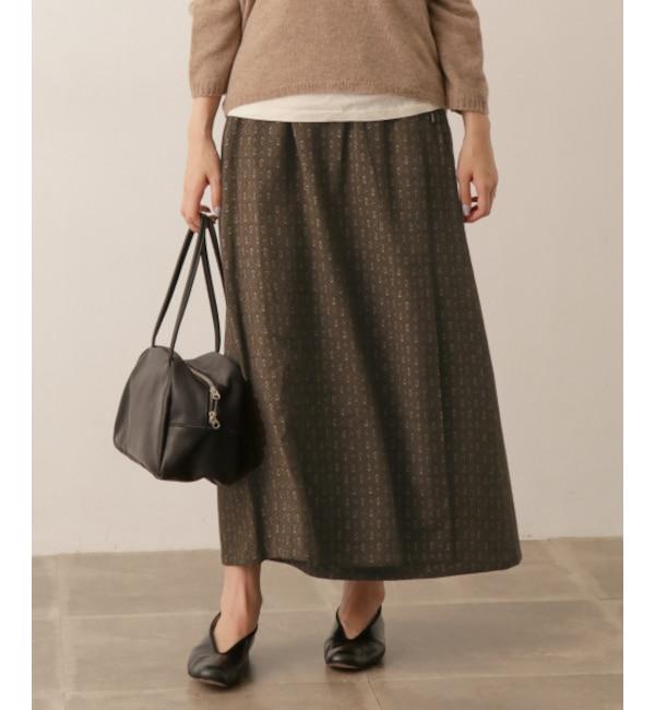 【アーバンリサーチ/URBAN RESEARCH】 かぐれ sigalm 小紋柄ラップスカート