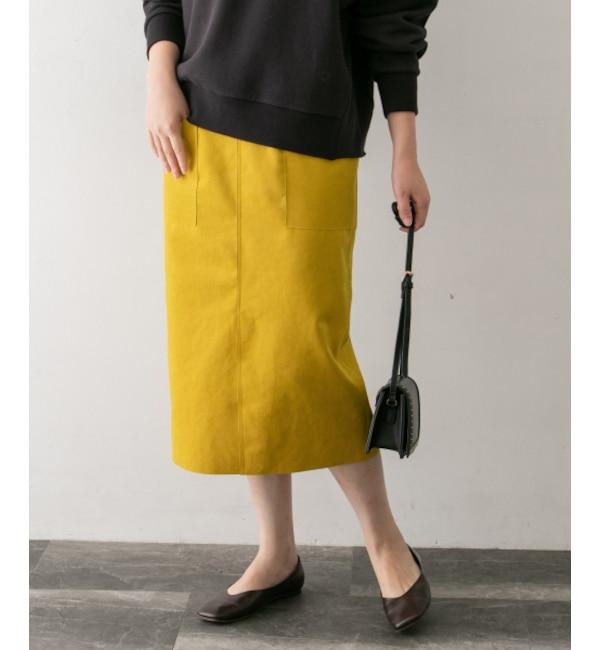 【アーバンリサーチ/URBAN RESEARCH】 ROSSO エコスエードタイトスカート