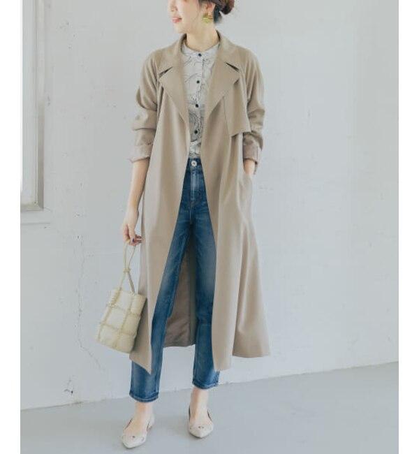 【予約】ROSSO バックタックトレンチコート