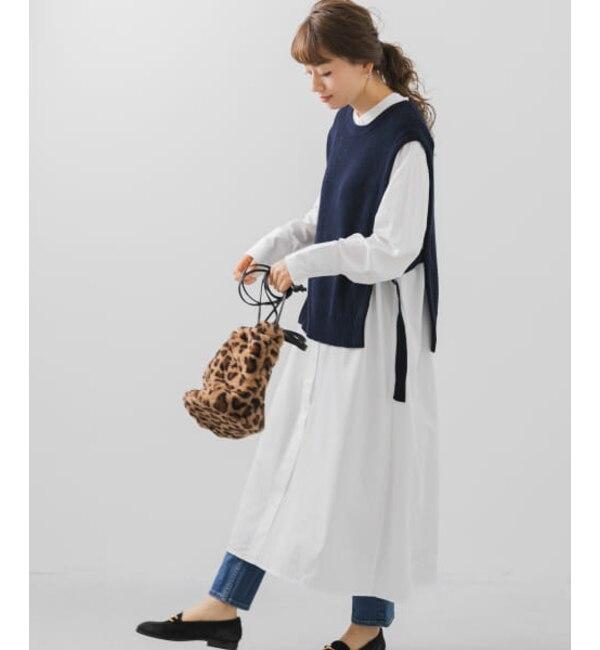 【予約】Sonny Label ニットベストxシャツワンピースセット