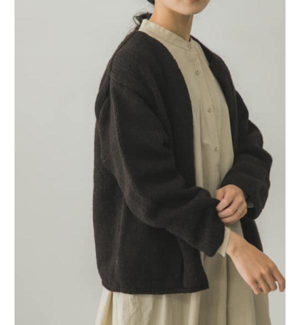 【予約】かぐれ ペルークルーネックカーディガン
