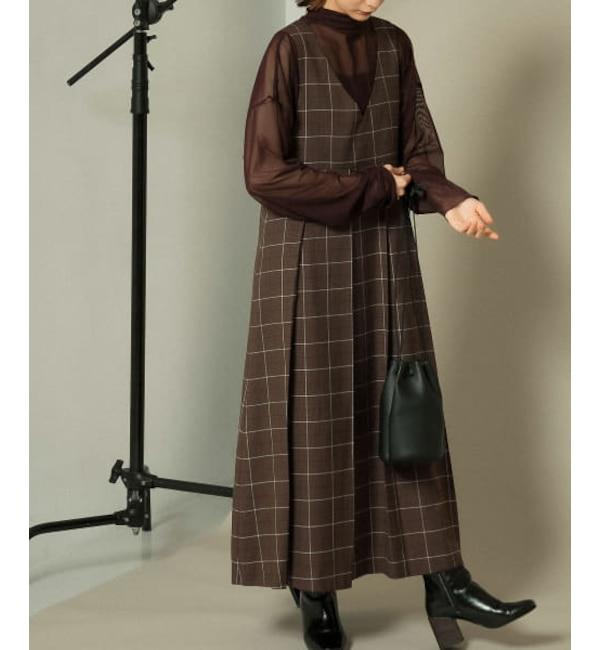 KBF 【一部WEB限定カラー】BIGプリーツジャンパースカート