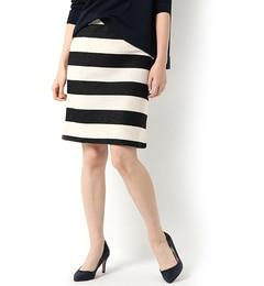 【エリオポール/HELIOPOLE】 ■別注■Traditional Weatherwear ストレッチタイトボーダースカート [送料無料]