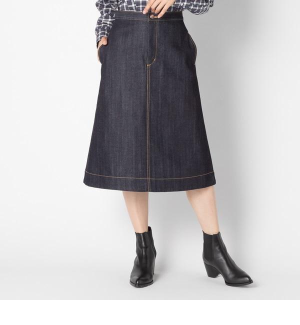 【エリオポール/HELIOPOLE】 HELIOPOLE 12oz デニムAラインスカート