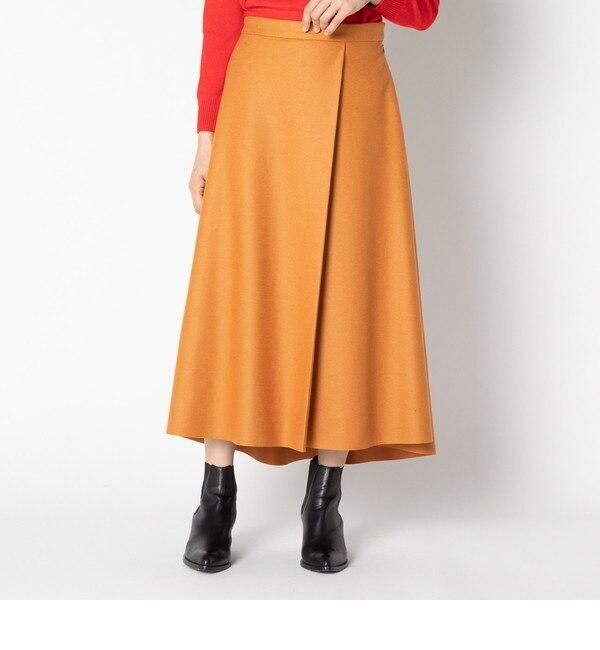 【エリオポール/HELIOPOLE】 HELIOPOLE 1タック フレアスカート