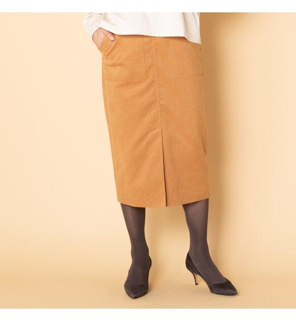 【エリオポール/HELIOPOLE】 HELIOPOLE エコスエードタイトスカート