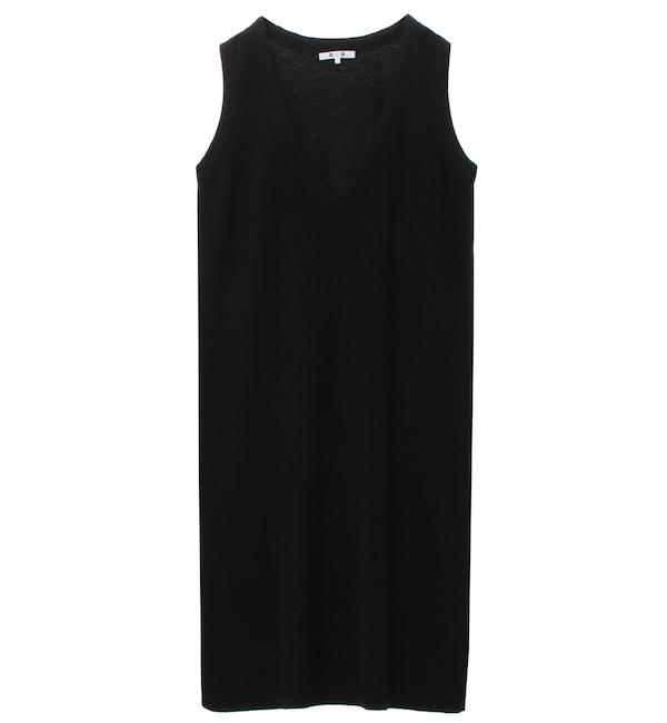 【スリードッツ/three dots】 ライトスムースウール ドレス