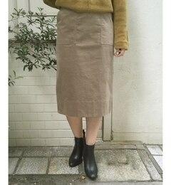 【ルクールブラン/le.coeur blanc】 別珍ポケットタイトスカート [送料無料]