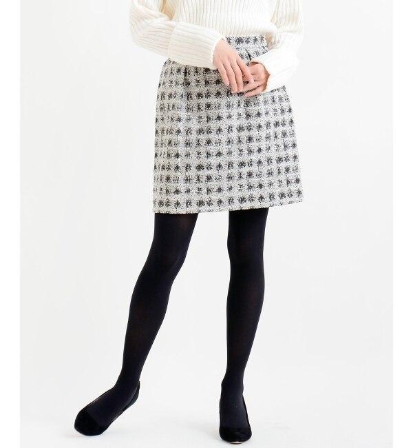 【ルクールブラン/le.coeur blanc】 ラメジャカードミニスカート [送料無料]