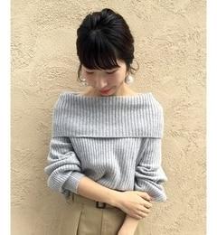 【ルクールブラン/le.coeur blanc】 Jオフタートルリブニット [送料無料]