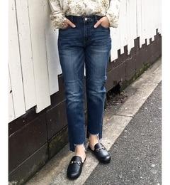【ルクールブラン/le.coeur blanc】 カットオフリメイクストレートデニム [送料無料]