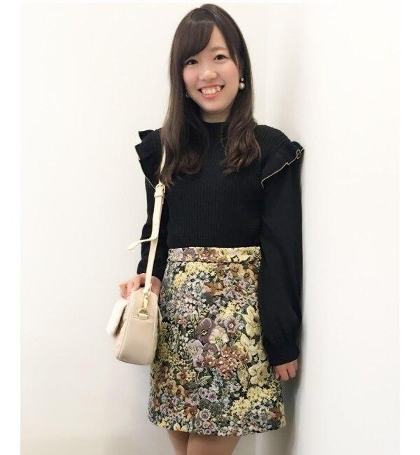 【マジェスティックレゴン/MAJESTIC LEGON】 ゴブラン柄スカート [送料無料]