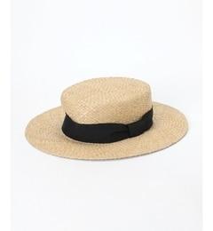 【ペルルペッシュ/PerlePeche】リボンカンカン帽[送料無料]