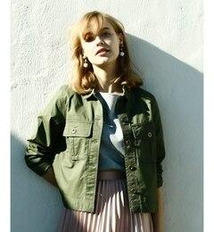 ミリタリーシャツジャケット【ペルルペッシュ/Perle Peche ミリタリー・モッズコート】