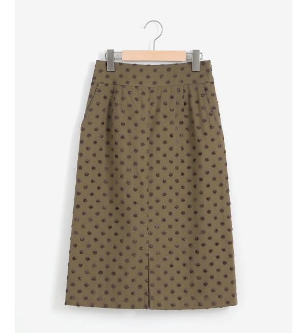 【ペルルペッシュ/Perle Peche】 ドットジャガードスカート
