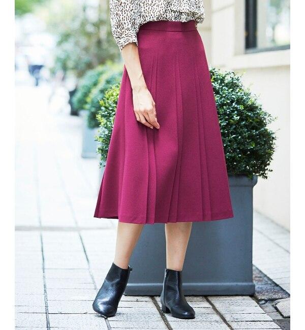 【ペルルペッシュ/Perle Peche】 ダブルサイドプリーツスカート